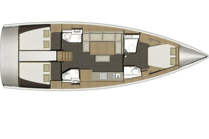 Dufour 460 Grand Large 3 cabin